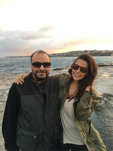 To the coolest and warmest dad in the whole wide world- Neha Dhupia
