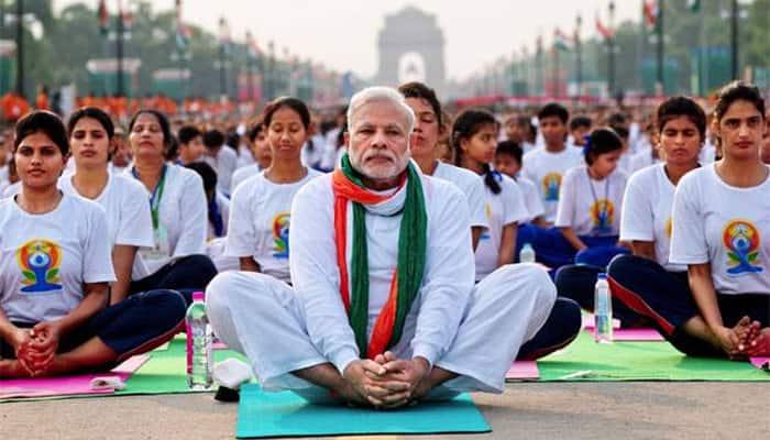 PM Narendra Modi to lead thousands on second International Yoga Day amid rain threat