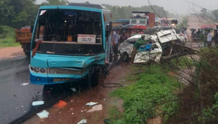 Karnataka accident: 8 school children killed, 9 injured in bus-van collision in Kundapur