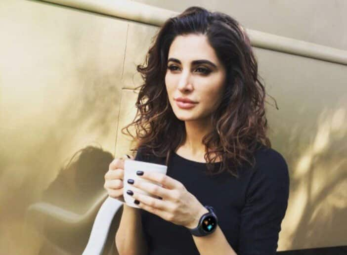Starting my day with a hot cup of coffee - NargisFakhri