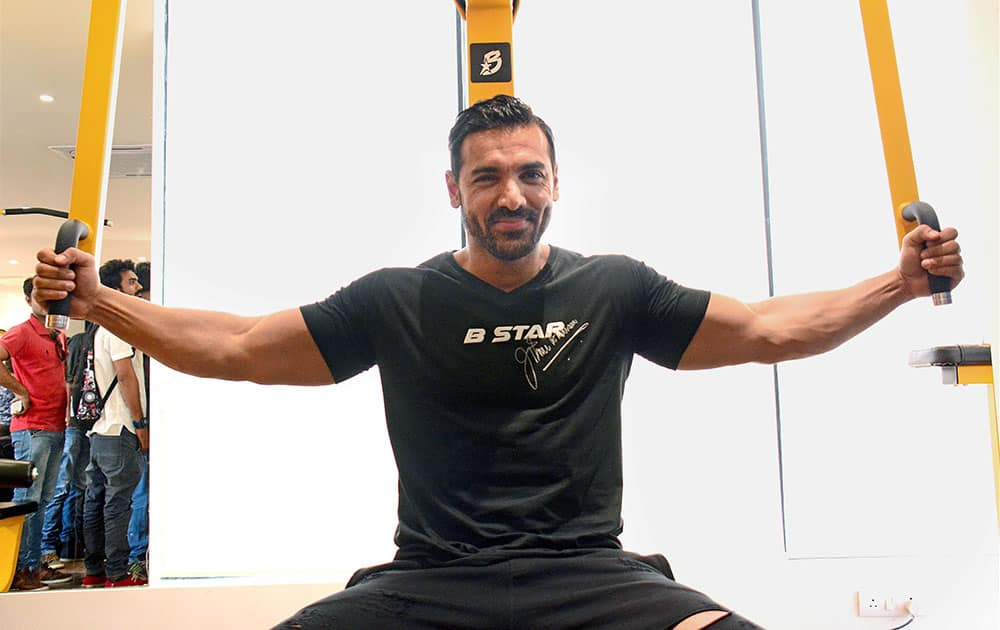 John Abraham during inaugural function of his gym chain B Star in Ahmedabad
