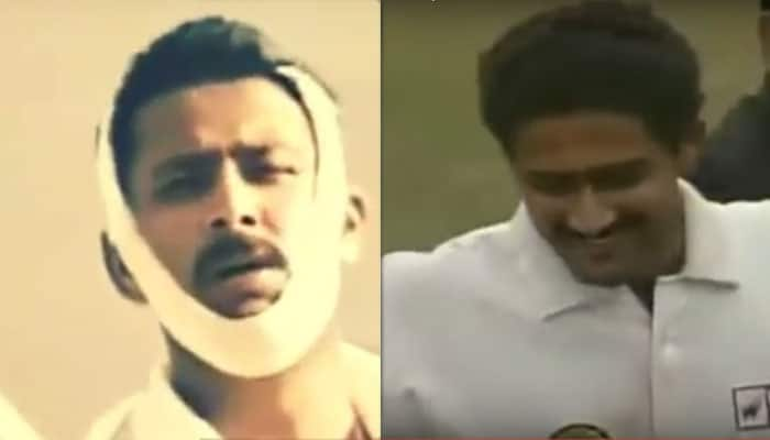 10-wicket haul vs Pakistan or bowling with a broken jaw: Which is your favourite Anil Kumble moment?