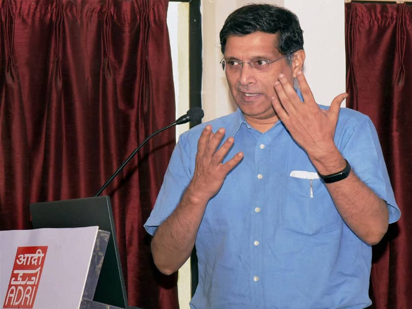 Arvind Subramanian addressing International conference on Social Statistics in India