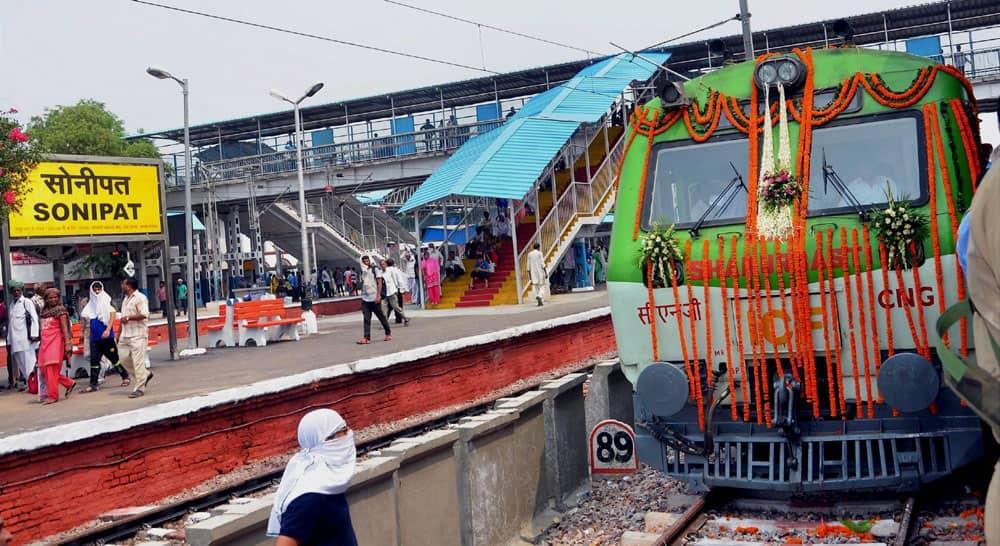 A new passenger train at Sonipat