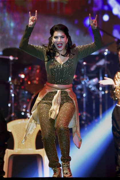 Sunny Leone performs at an event