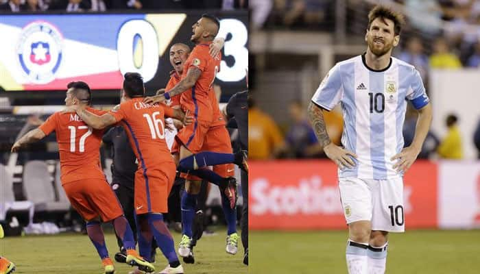 27d9394ca Copa America final  Chile beat Argentina 4-2 to win title after Lionel  Messi misses penalty kick