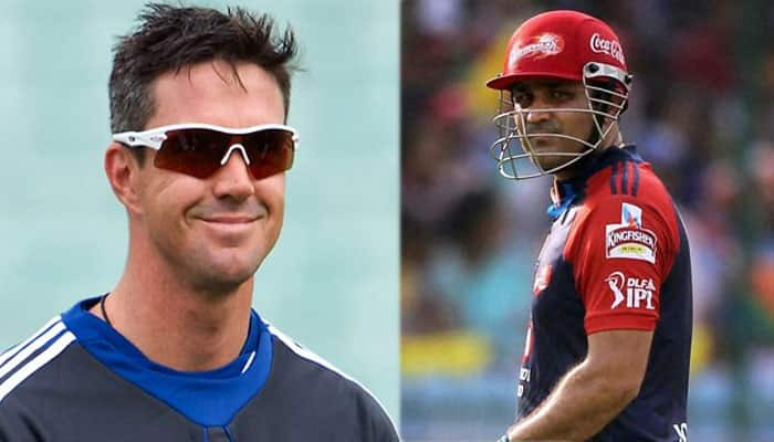 HILARIOUS: Virender Sehwag wishes former Daredevils team-mate Kevin Pietersen Happy Birthday in funny style!