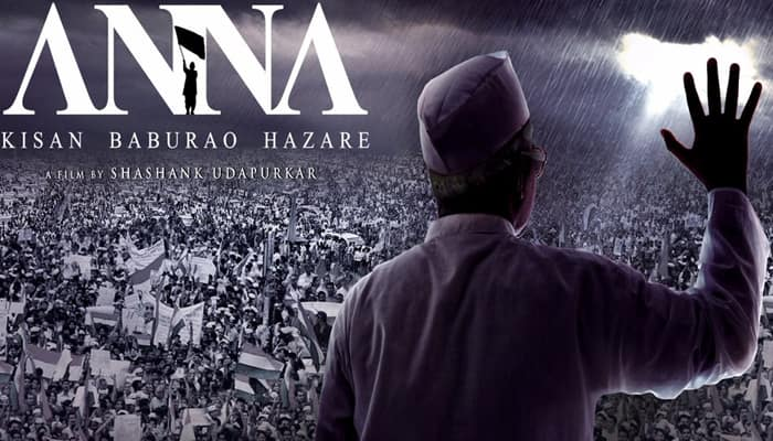 Anna Hazare unveils poster of his biopic