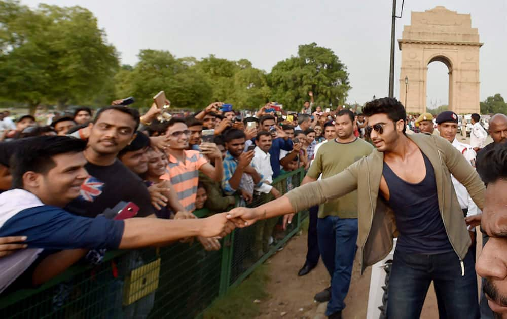 Actor Arjun Kapoor at traffic awareness campaign