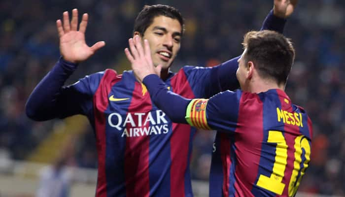 Barcelona's Luis Suarez confident Lionel Messi will reverse his decision to retire