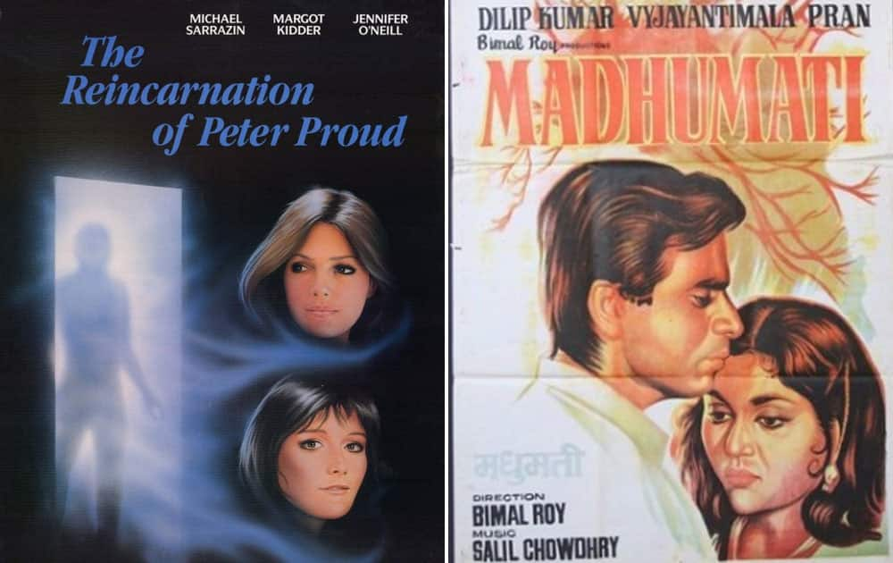 The Reincarnation of Peter Proud (1975) was copied from 1958 released Madhumati