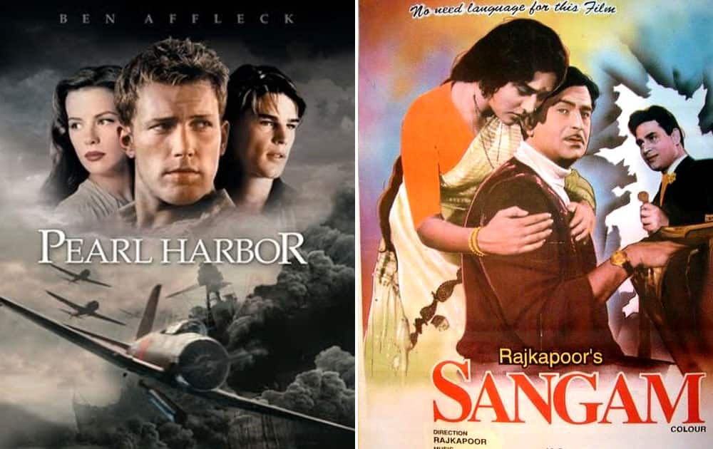 Pearl Harbour released in 2001 copied from 1964 released Sangam