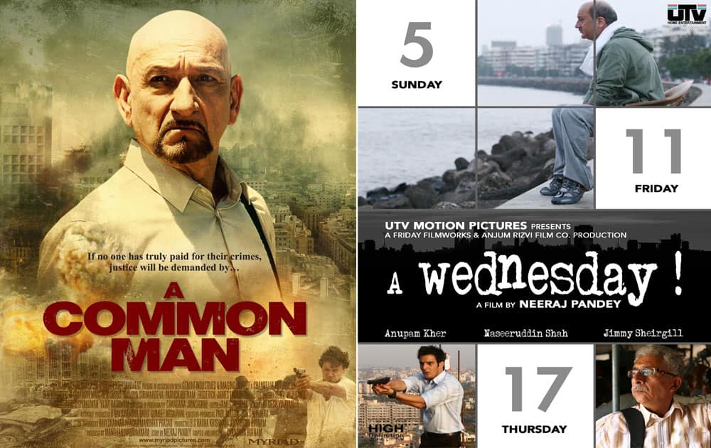 A Common Man (2013) copied A Wednesday which was released in the year 2008