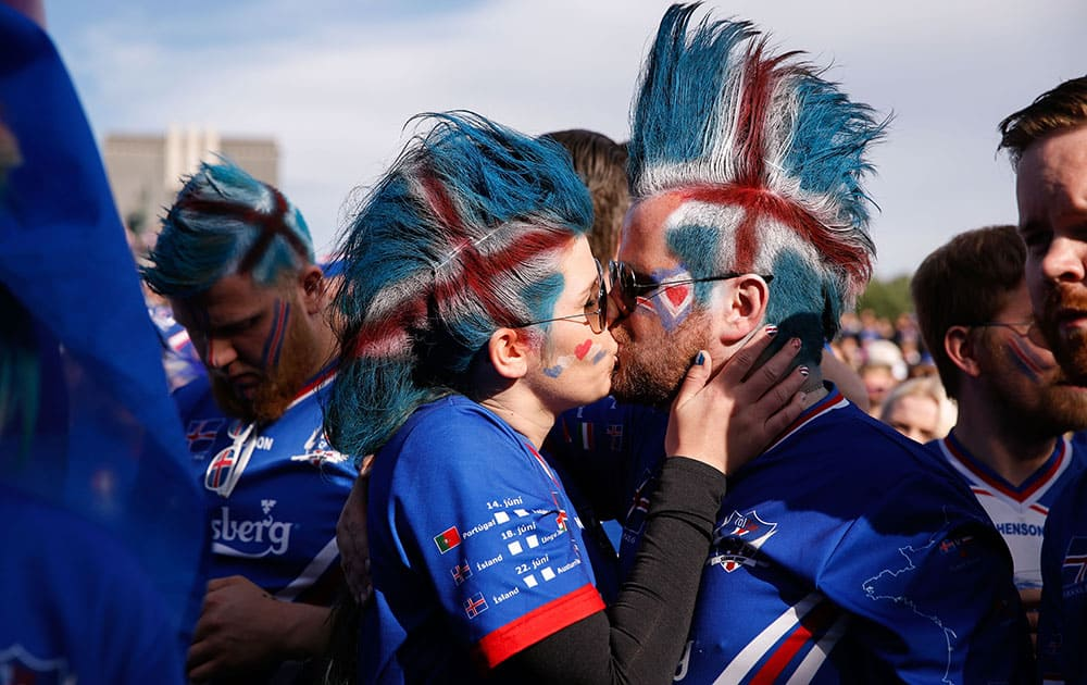 Soccer Euro 2016 Iceland France