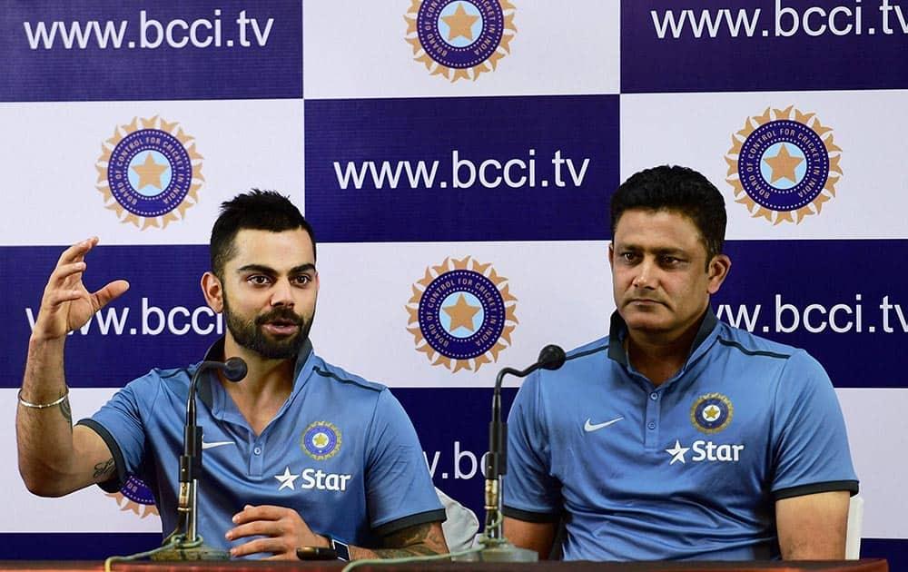 Virat Kohli and Head Coach Anil Kumble