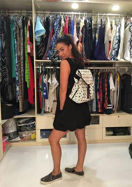 New geometric backpack say whaaaat!!!- Lauren Gottlieb