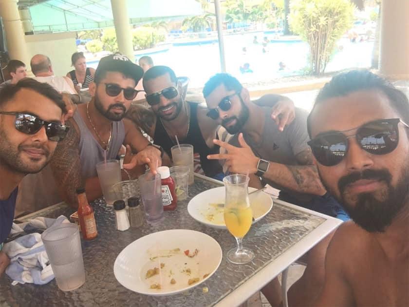 Enjoyed having lunch with the boys!!!- Shikhar Dhawan