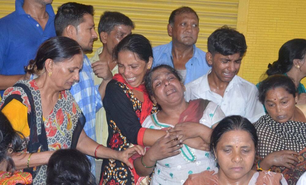 Family members of people died