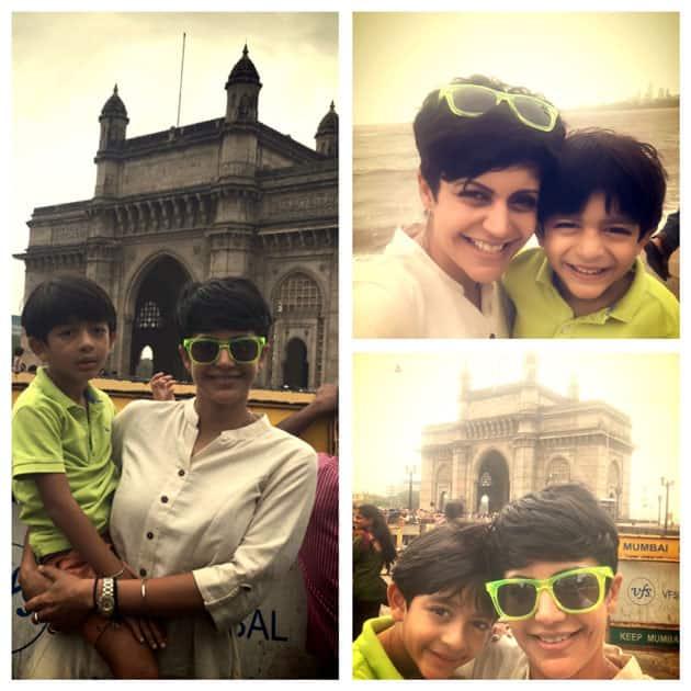 Sunday excursion with my son- mandira bedi