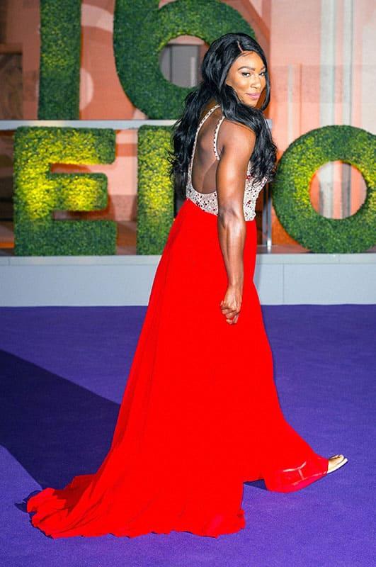 Wimbledon champion Serena Williams arrives at the Wimbledon Champions Dinner