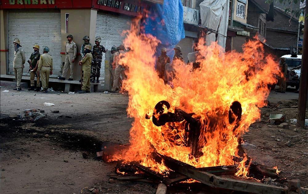 Clashes in Srinagar