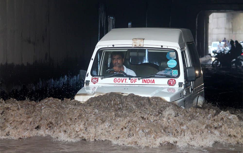 Heavy rains in Faridabad