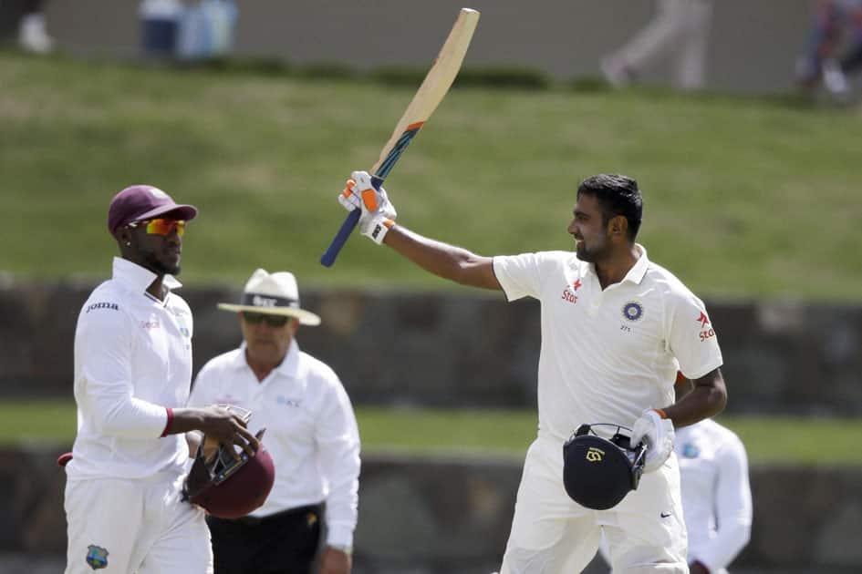Ravichandran Ashwin scores century