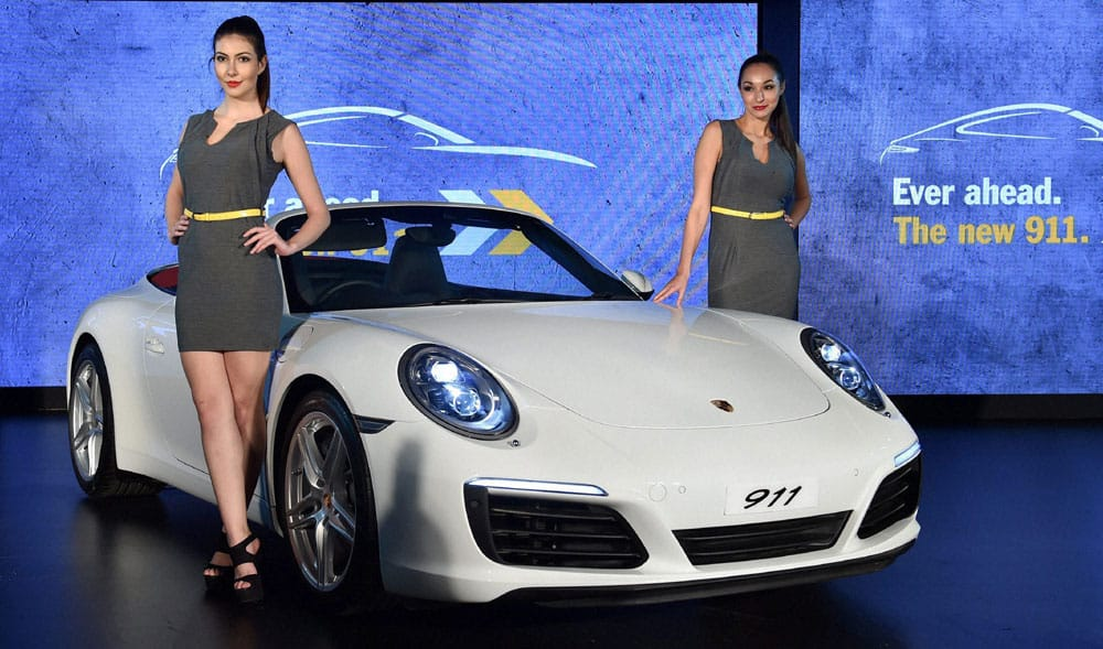 Newly launched Porsche 911