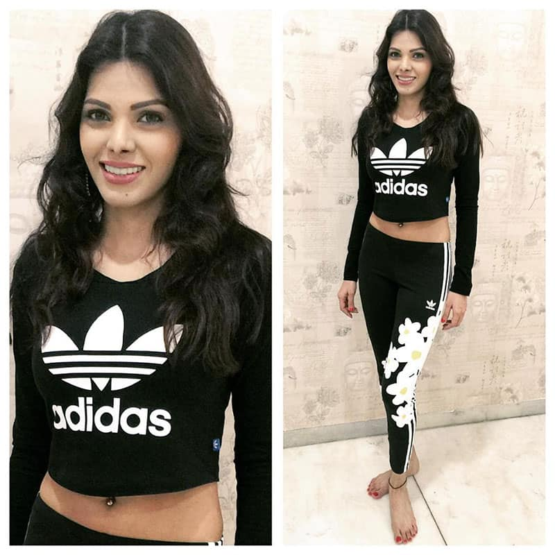 sherlyn chopra :- #Yoga taught me to #love me.. That's why #ILoveYoga