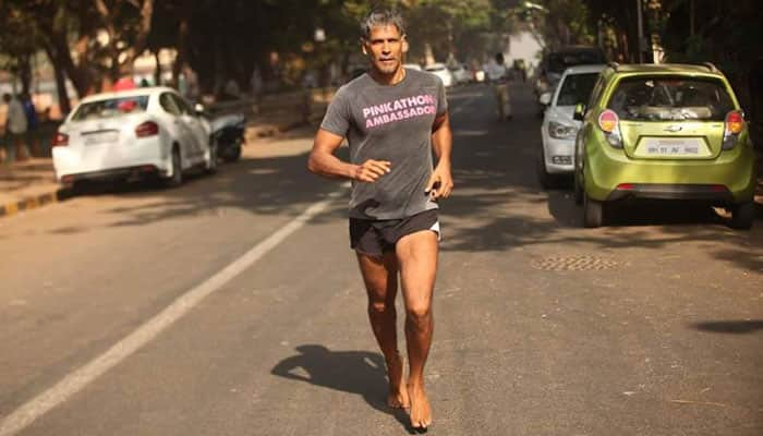 Inspirational! Milind Soman is running barefoot from Ahmedabad to Mumbai – Know why