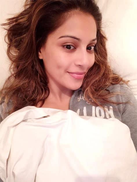 A beautiful morning selfie- Bipasha Basu