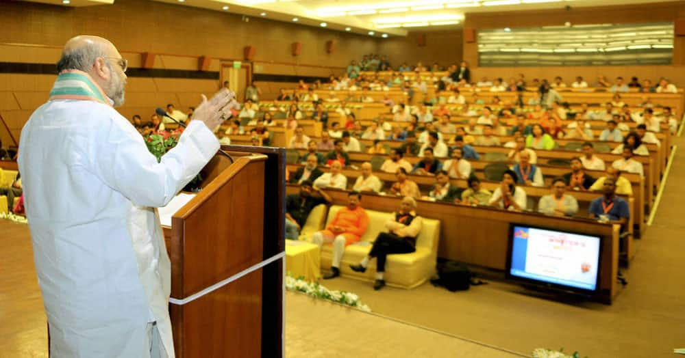 Amit Shah addresses the National Writer's Meet 2016