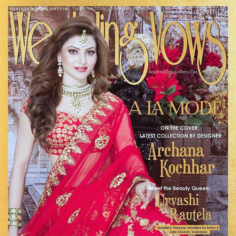 Urvashi Rautela :- #WeddingVows Cover Star Urvashi Rautela turns into a #RoyalIndianPrincess #CrownPrincess  #AugustIssue #Nowonstands
