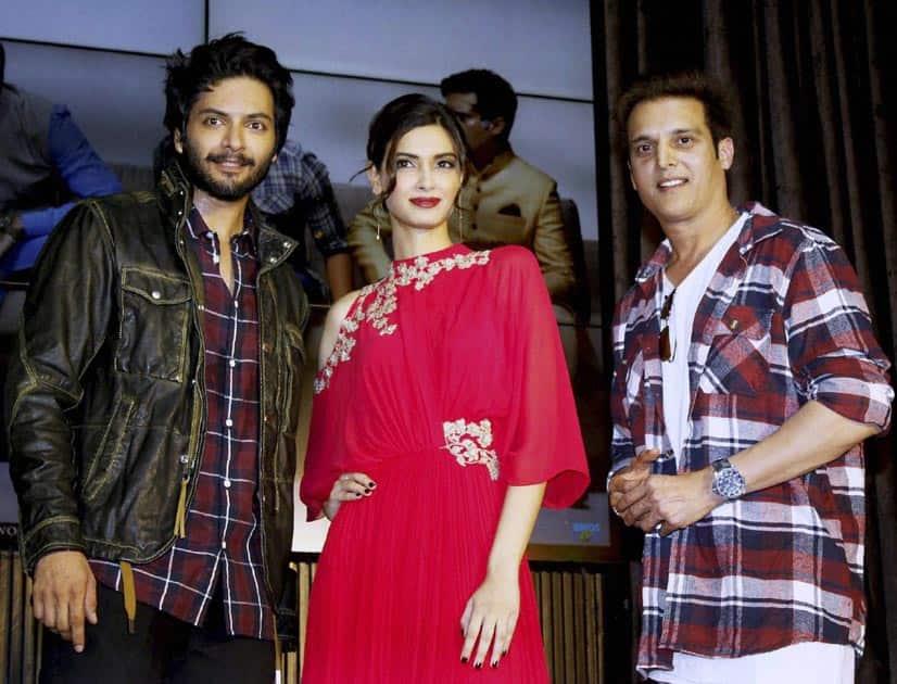 Bollywood actors Ali Fazal, Diana Penty and Jimmy Shergill
