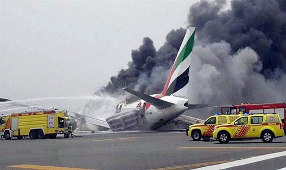 An Emirates airline flight