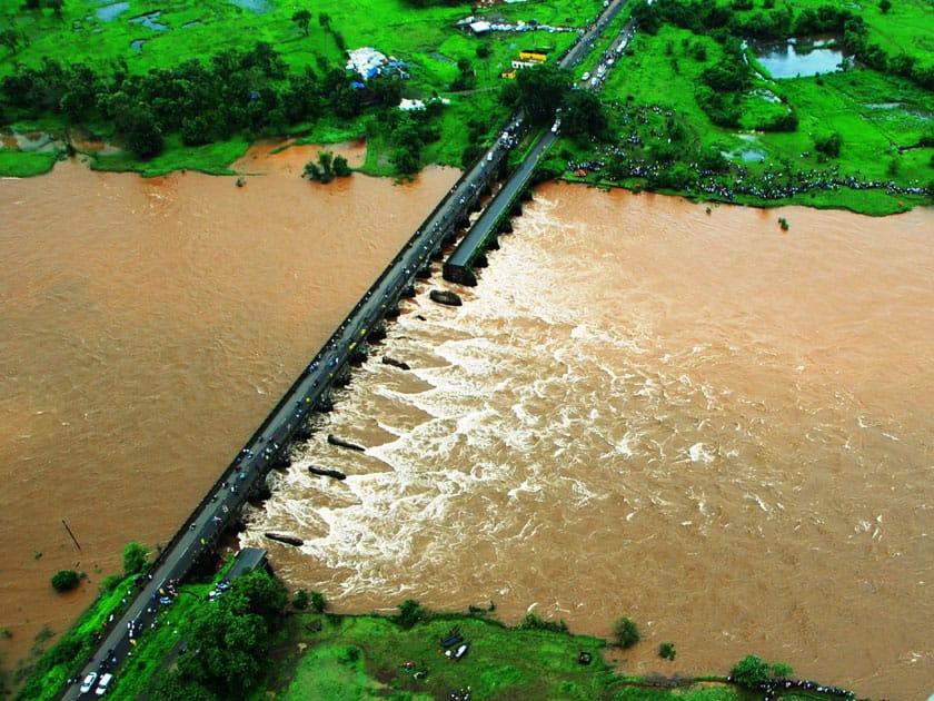 old bridge collapsed