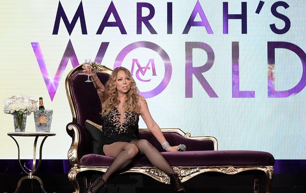 Mariah Carey participates in the