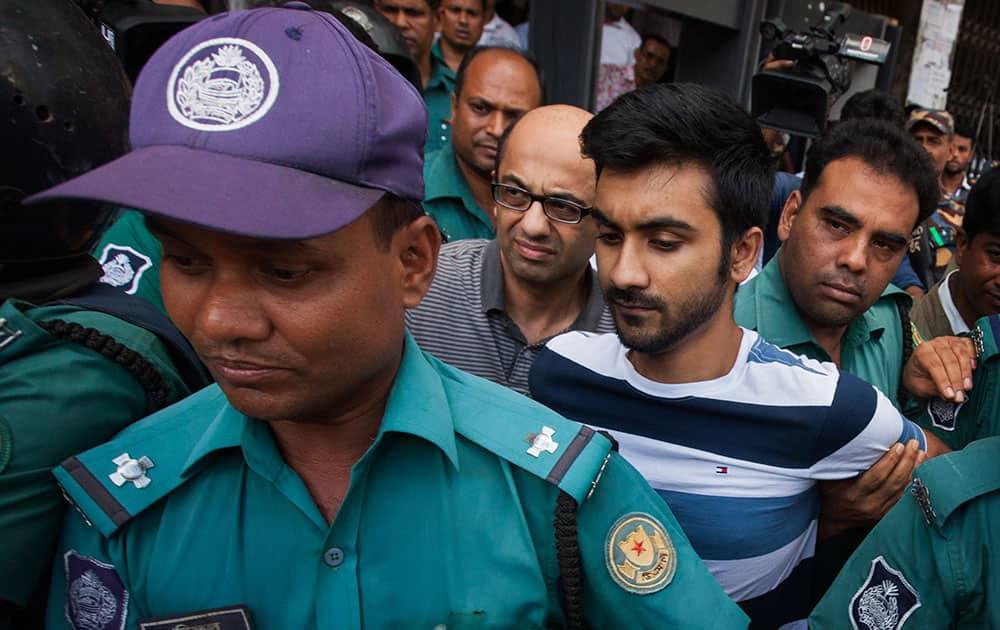 British national Hasnat Karim and University of Toronto student Tahmid Hasib Khan are taken before court in Dhaka