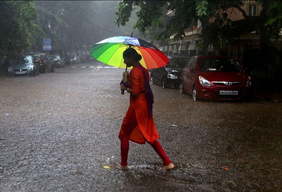 rain in Mumbai.