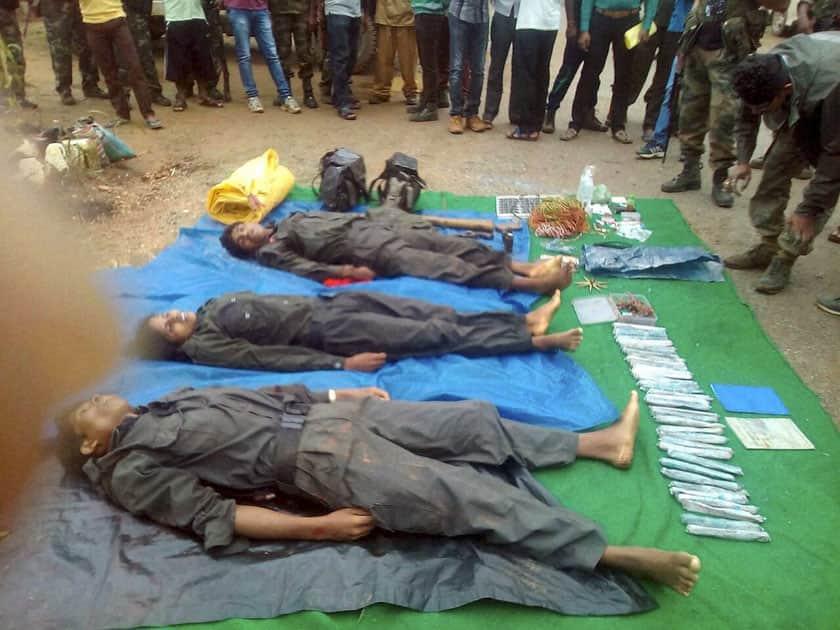 Three Naxals killed
