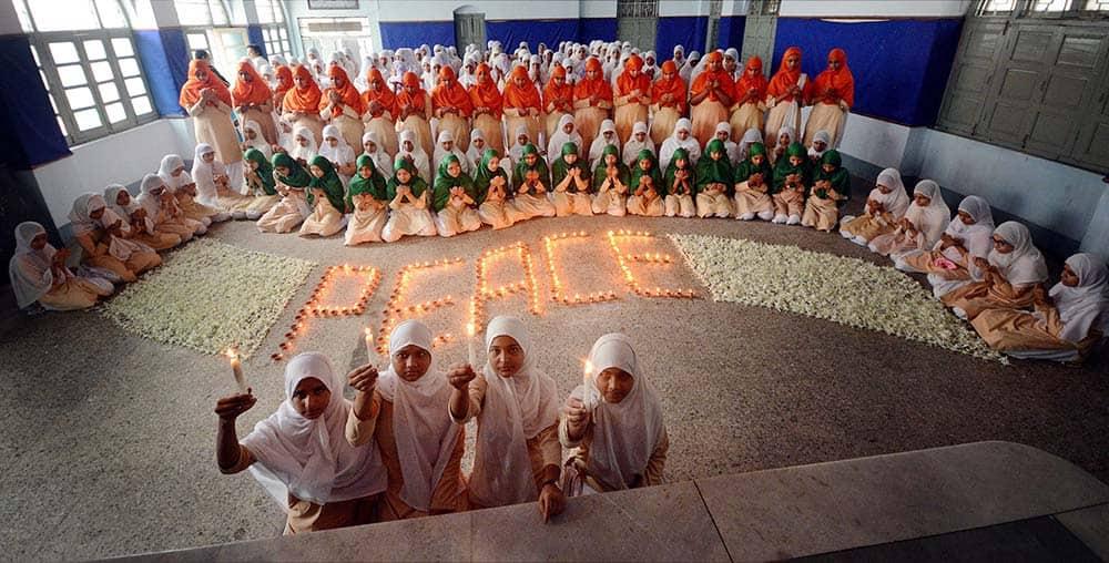 Students of an Islamic school