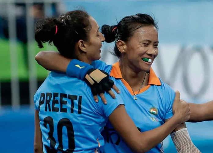 India women's vs Netherlands in men's competition