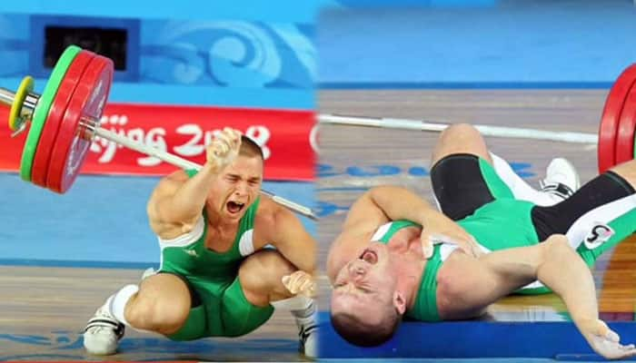 HORRIFIC VIDEO: OUCH! Weightlifter drops MASSIVE 148kgs, dislocates elbow!