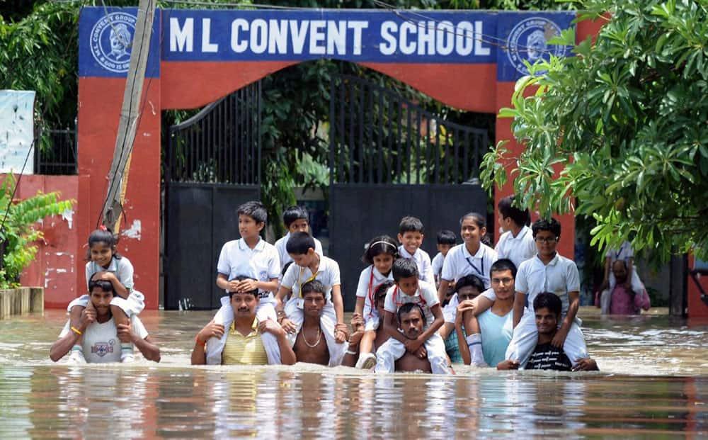 Flood after heavy rain