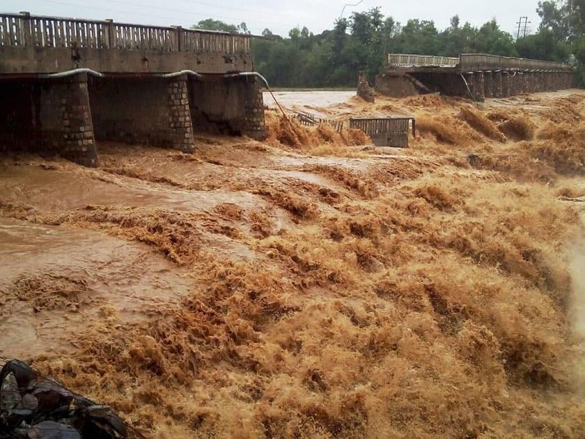 Chaunch Khad- Indora-Kandrori bridge washed away