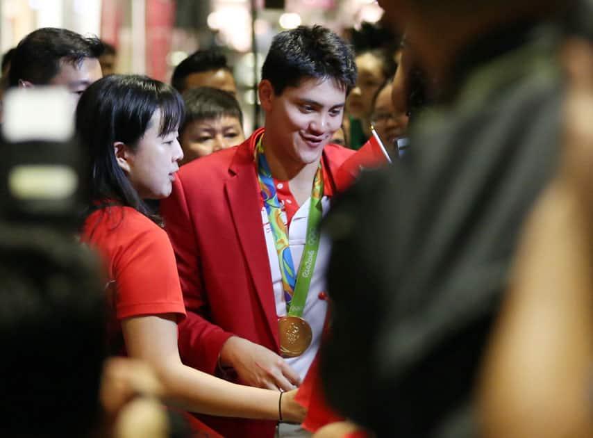 Singaporean swimmer Joseph Schooling