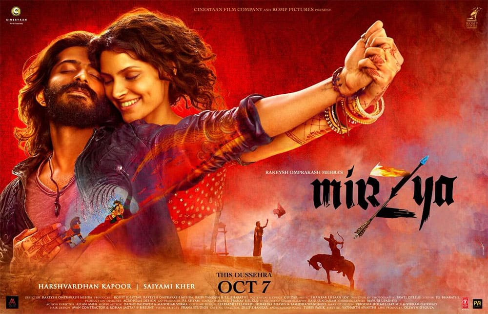 Check out the new poster of #Mirzya... Releases 7 Oct. - Twitter@taran_adarsh