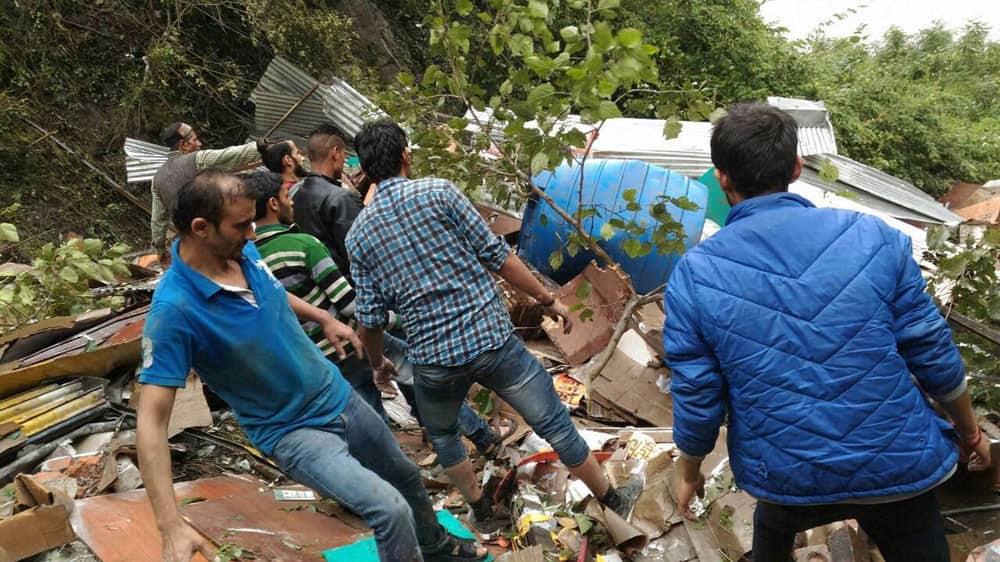 building collapsed at Hatkoti near Rohru