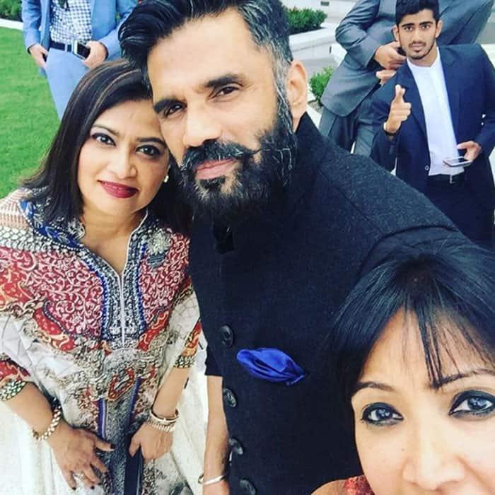 Sunil Shetty and Sujata Shetty