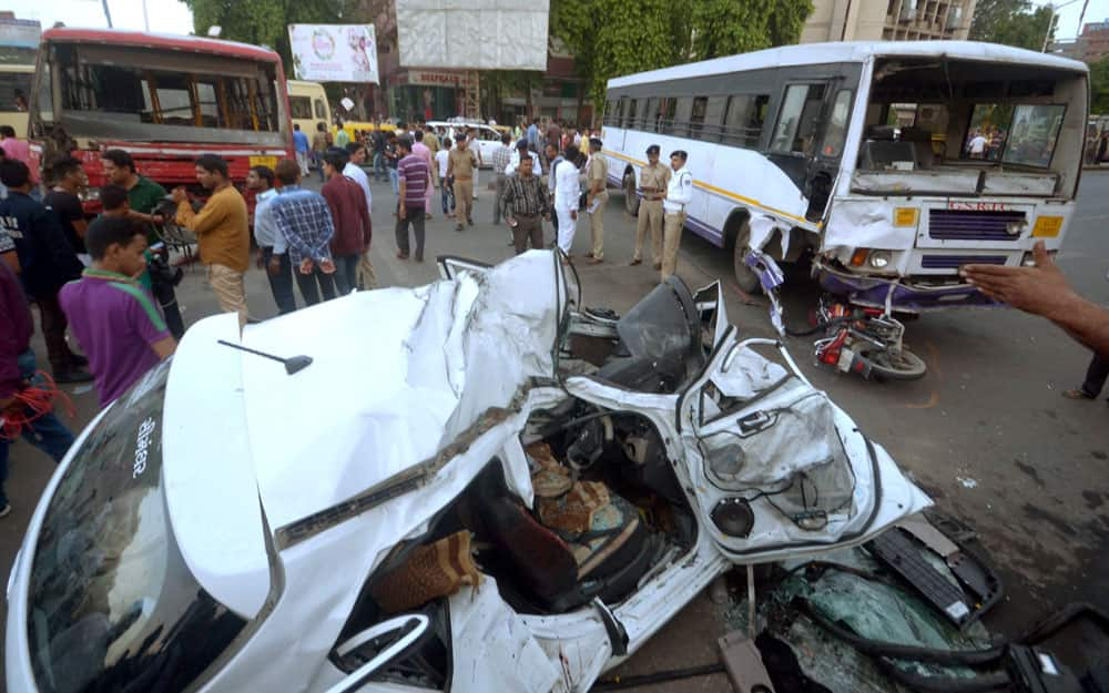 Accident in Ahmedabad